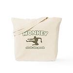 Monkey Steals The Peach Tote Bag