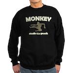 Monkey Steals The Peach Sweatshirt (dark)