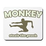 Monkey Steals The Peach Mousepad