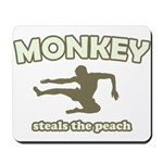 Monkey Steals The Peach Mousepad