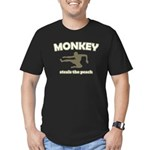 Monkey Steals The Peach Men's Fitted T-Shirt (dark