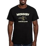 Monkey Steals The Peach Men's Fitted T-Shirt (dark