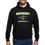 Monkey Steals The Peach Hoodie (dark)