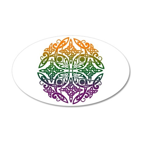 Celtic Mandala Emblem 22x14 Oval Wall Peel