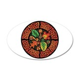 Celtic Autumn Leaves 22x14 Oval Wall Peel