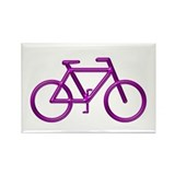 &quot;Purple Bike&quot; Rectangle Magnet