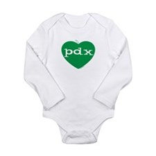 Cute Pdx Long Sleeve Infant Bodysuit
