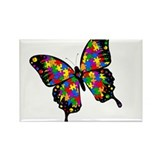 Autism Butterfly Rectangle Magnet (10 pack)