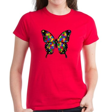 Autism Butterfly Women's Dark T-Shirt