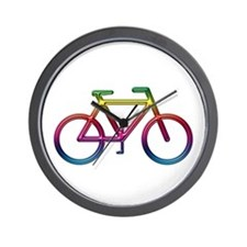 """Rainbow Bike"" Wall Clock"