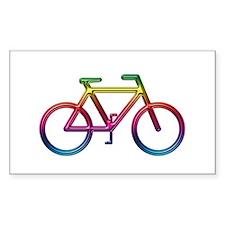 """Rainbow Bike"" Rectangle Decal"