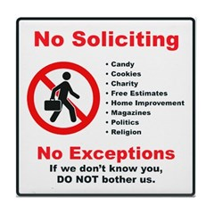 No Soliciting Tile #2