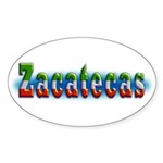Zacatecas 1a Sticker (Oval 10 pk)