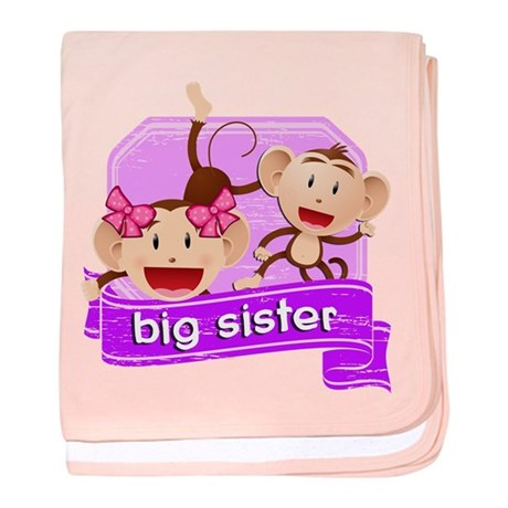 Big Sister Monkey baby blanket