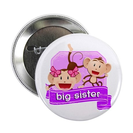 "Big Sister Monkey 2.25"" Button"