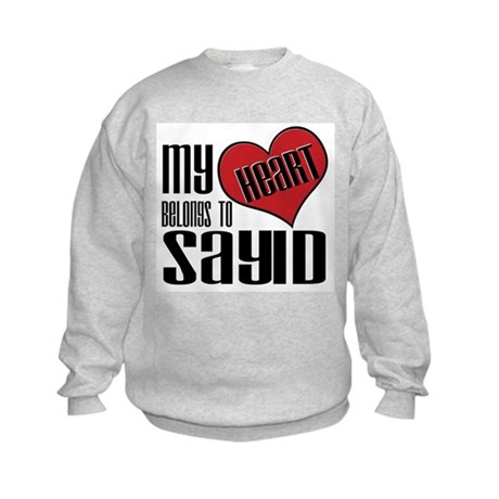Heart Belongs To Sayid Kids Sweatshirt
