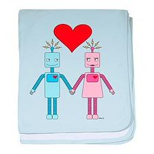 Robot Love baby blanket