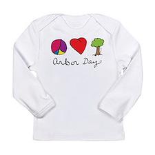 Peace, Love & Trees Long Sleeve Infant T-Shirt