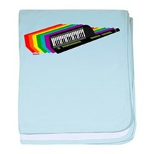 Rainbow Keytar baby blanket