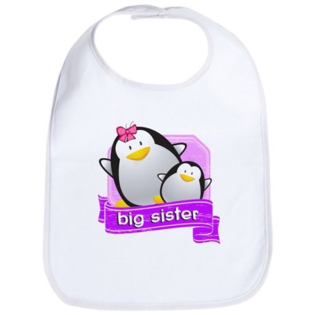 Big Sister Penguin Bib