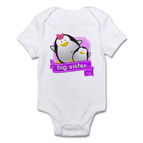 Big Sister Penguin Infant Bodysuit