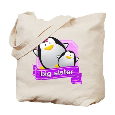Big Sister Penguin Tote Bag