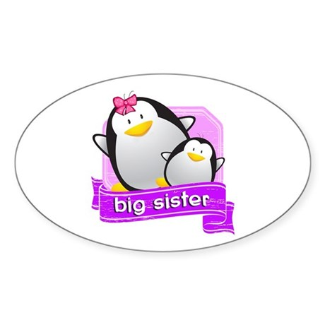Big Sister Penguin Sticker (Oval)