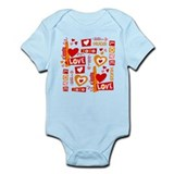 Love Talk Valentine Infant Bodysuit