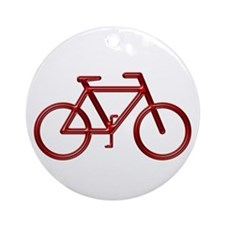 """Red Bike"" Ornament (Round)"