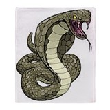 Cobra Snake Throw Blanket