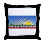 Cielo Azul de Zacatecas Throw Pillow