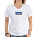 Cielo Azul de Zacatecas Women's V-Neck T-Shirt