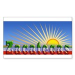 Cielo Azul de Zacatecas Sticker (Rectangle)