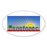 Cielo Azul de Zacatecas Sticker (Oval)