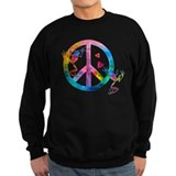 Tree Frogs 4 Peace Symbols Sweatshirt