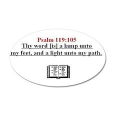 Psalm 119:105 38.5 x 24.5 Oval Wall Peel