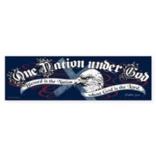 One Nation - Blessed Bumper Sticker