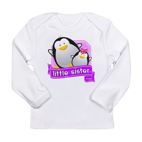 Little Sister Penguin Long Sleeve Infant T-Shirt