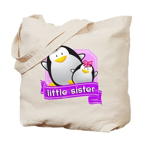 Little Sister Penguin Tote Bag