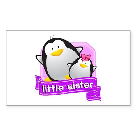 Little Sister Penguin Sticker (Rectangle)