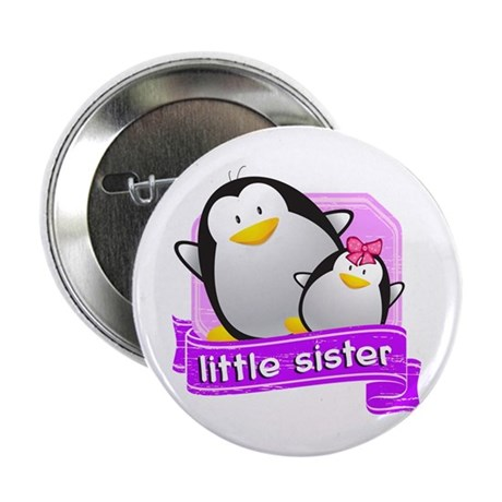 "Little Sister Penguin 2.25"" Button"