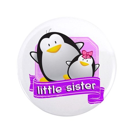 "Little Sister Penguin 3.5"" Button"