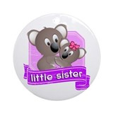 Little Sister Koala Ornament (Round)