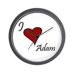 I love Adam Wall Clock