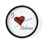 I love Adrian Wall Clock