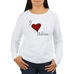 I love Adrian Women's Long Sleeve T-Shirt