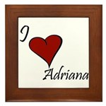 I love Adriana Framed Tile