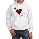 I love Alec Hooded Sweatshirt