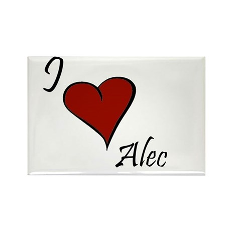 I love Alec Rectangle Magnet (10 pack)