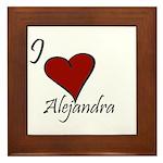 I love Alejandra Framed Tile
